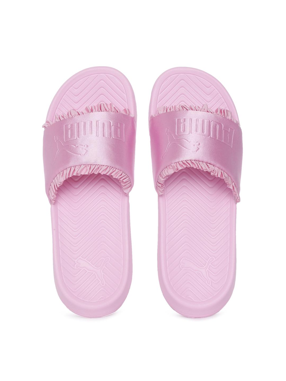 Buy Puma Women Pink Solid Sliders