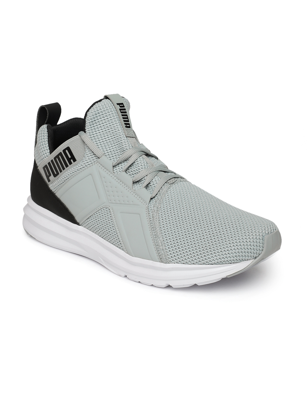 8714a5fcaa1 Buy Puma Men Grey Enzo Weave Running Shoes - Sports Shoes for Men ...