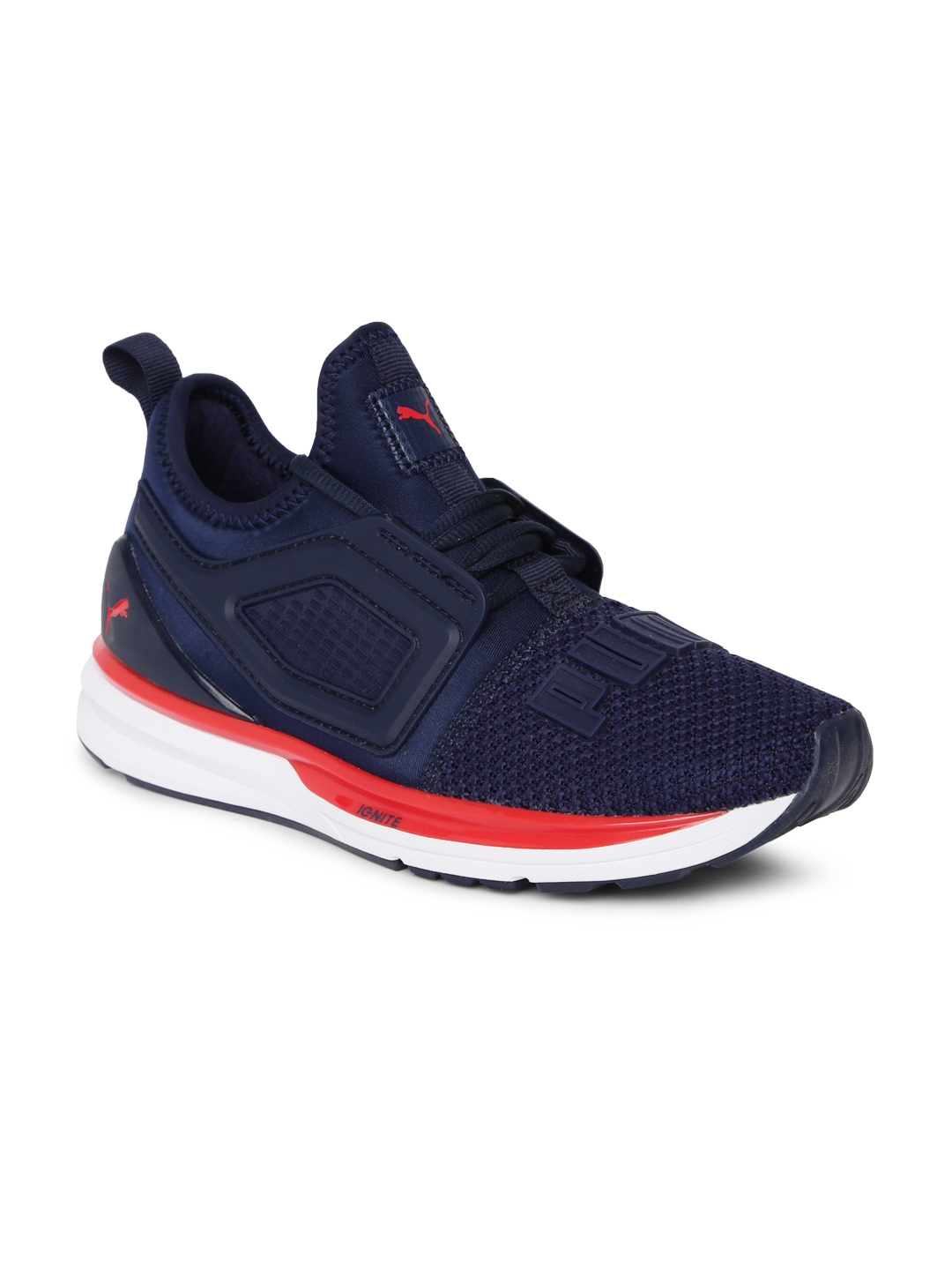 uk availability fb366 b7f43 Puma Kids Navy Blue IGNITE Limitless 2 Jr Running Shoes