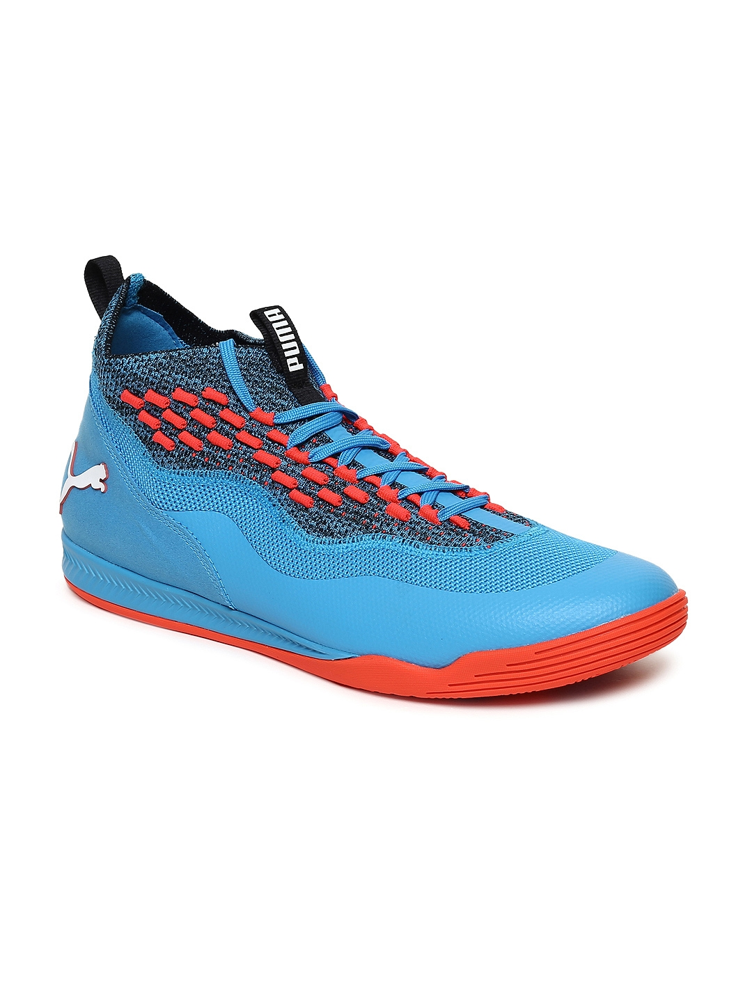 17d798810795d4 Buy Puma Unisex Blue Sharp FUSE Badminton Shoes - Sports Shoes for ...