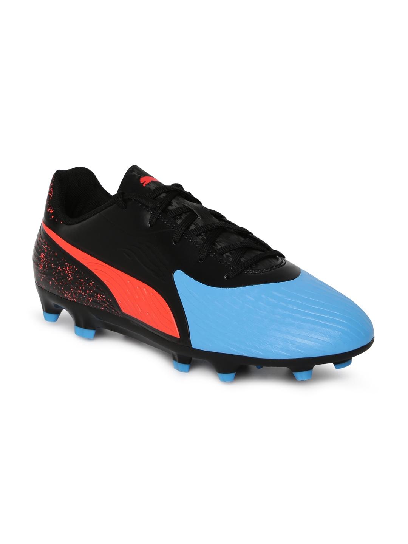 Puma Kids Blue & Black ONE 19.4 FGAG Jr Football Shoes