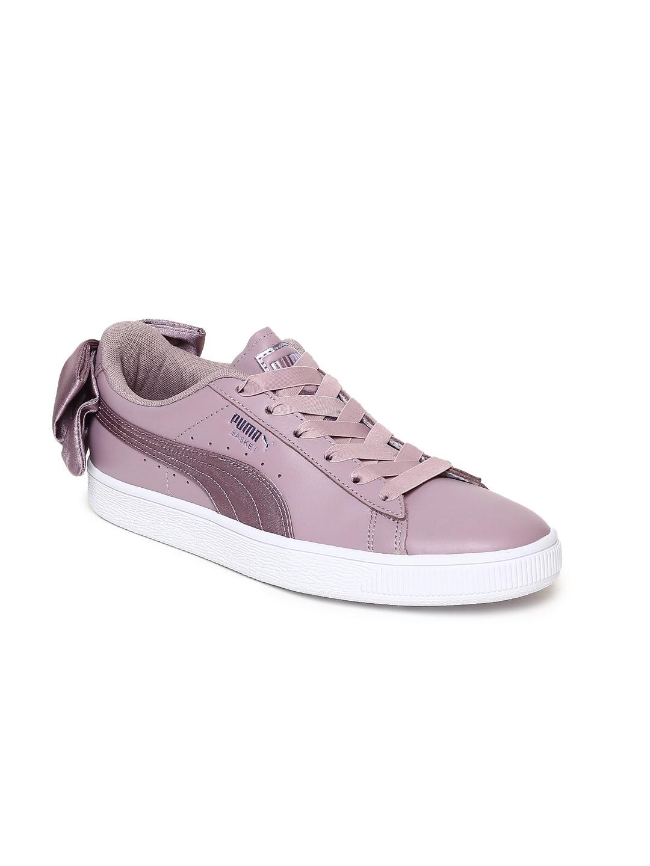 Buy Puma Women Purple Basket Bow Satin