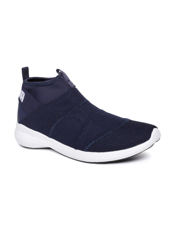 Buy Puma Men Navy Blue Solid Mono Knit