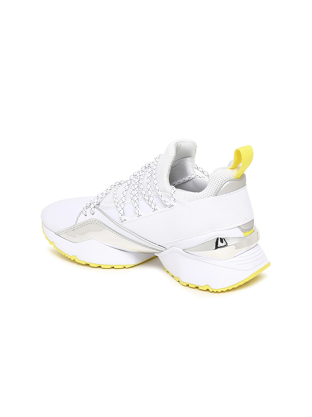 new products 70748 9cf3a Puma Women White Muse Maia TZ Metallic Sneakers