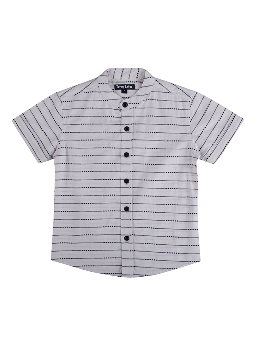 6a3cad85 Buy Terry Fator Boys Grey Comfort Regular Fit Striped Casual Shirt ...