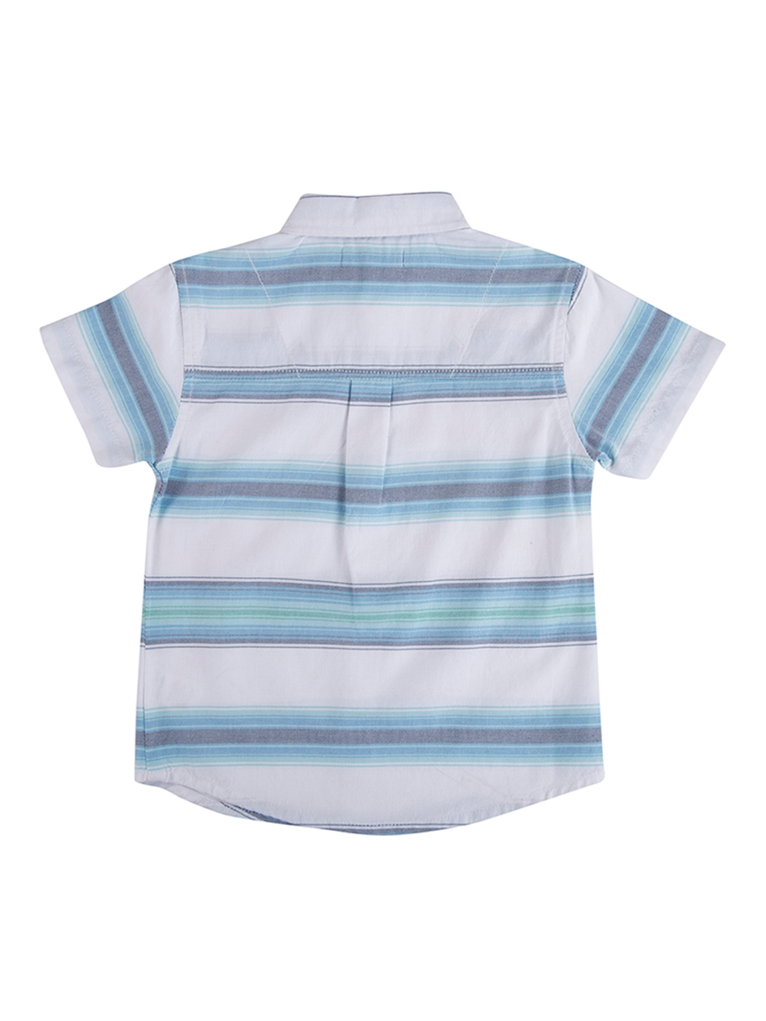 0773092f Buy Terry Fator Boys White & Blue Regular Fit Striped Casual Shirt ...