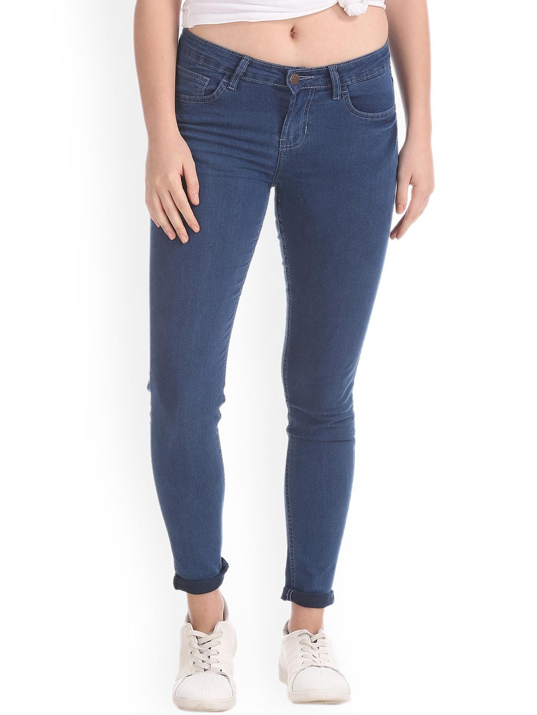 Newport Women Blue Skinny Fit Mid Rise Clean Look Jeans