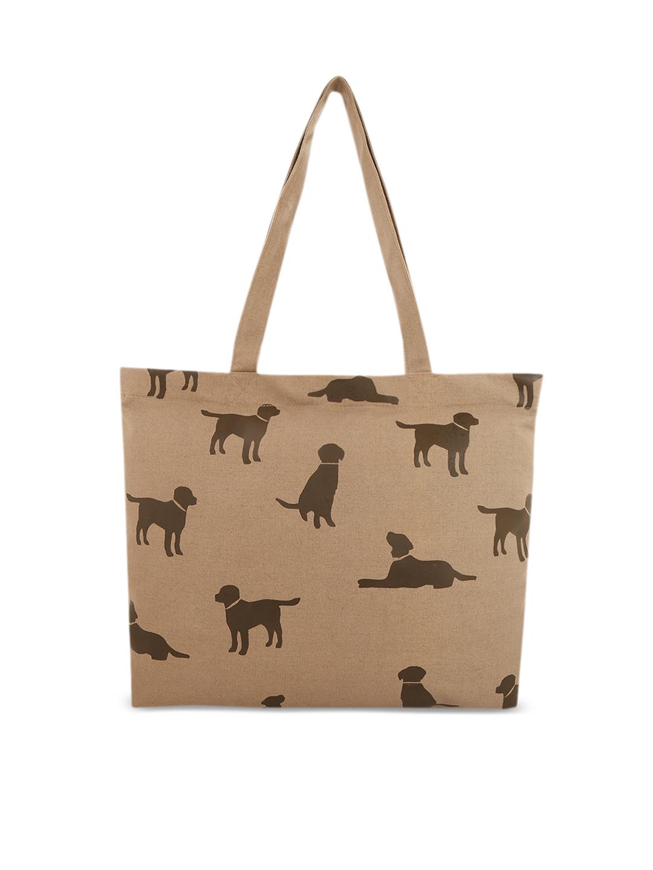 Vivinkaa Khaki Printed Tote Bag