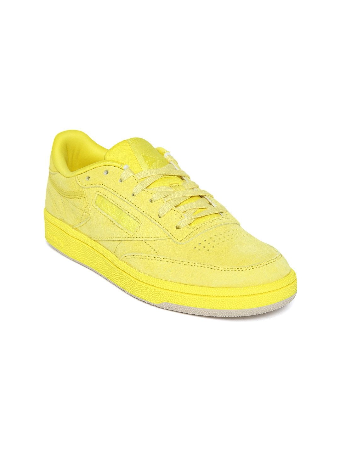 d9347f29860 Buy Reebok Classic Women Yellow Suede Club C 85 Sneakers - Casual ...