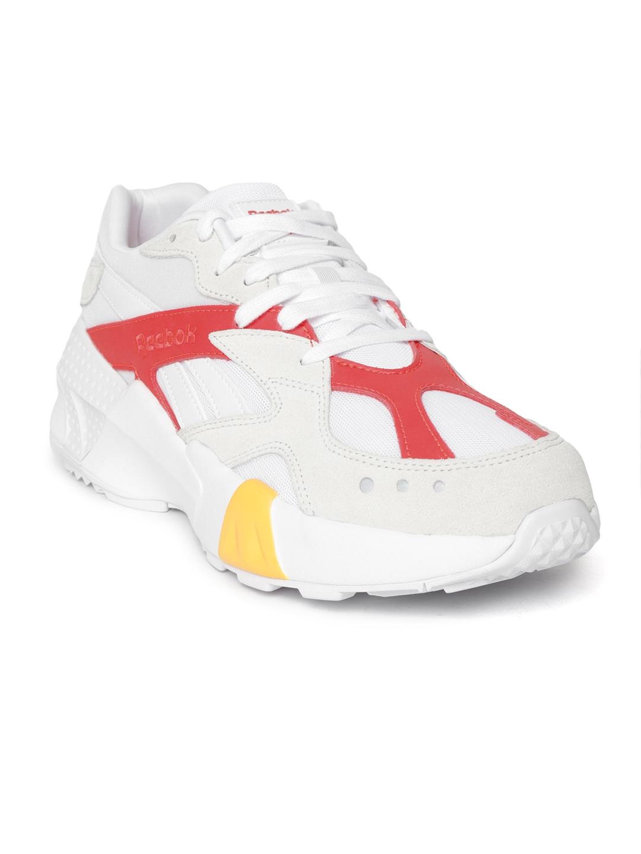 b15948cc7f5 Reebok Classic Unisex White   Red Aztrek Double 93 Gigi Hadid Colourblocked  Sneakers