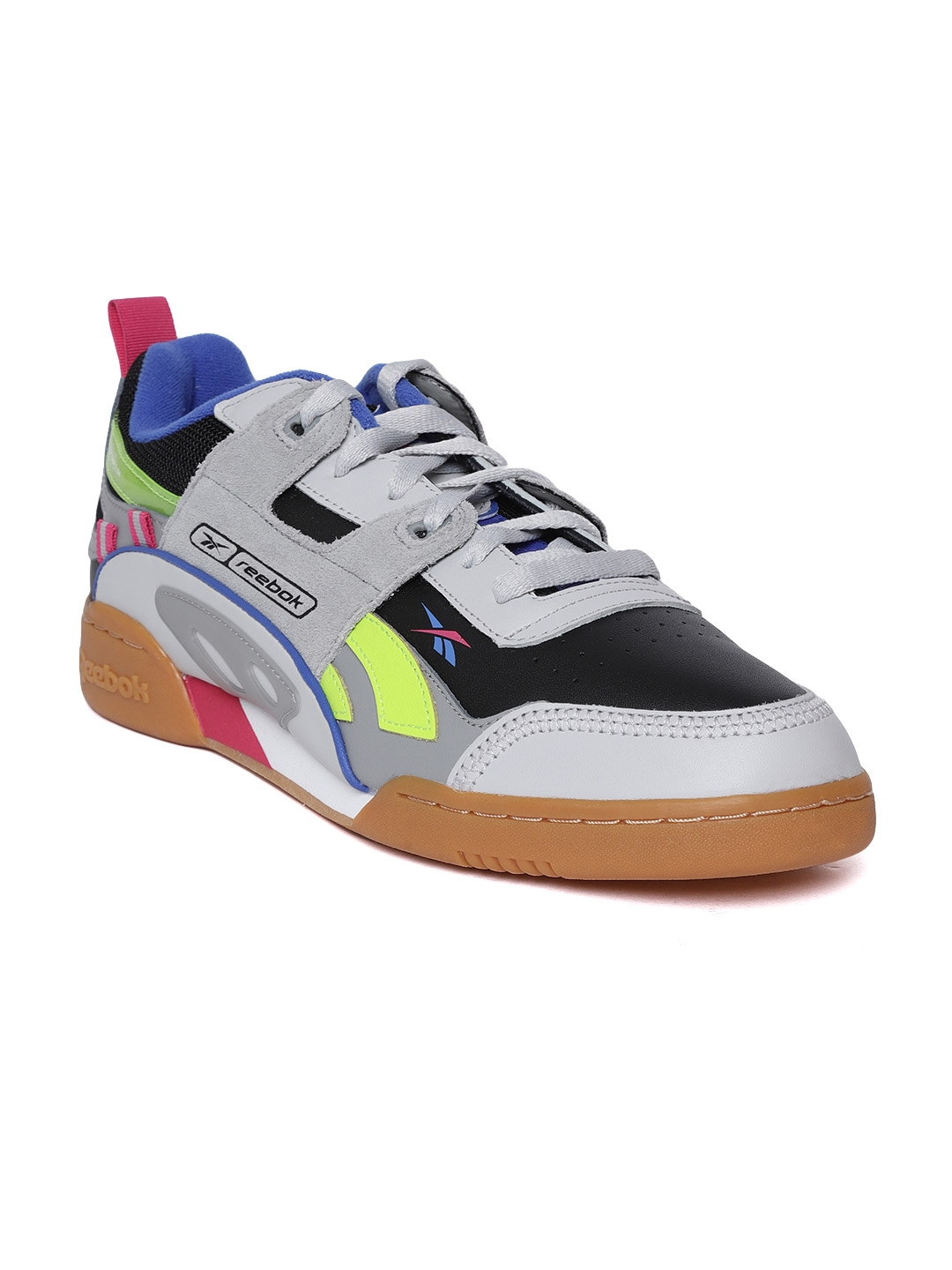 8235da0f551a7 Reebok Classic Unisex Grey   Black Workout Plus Alter The Icons 90s Sneakers