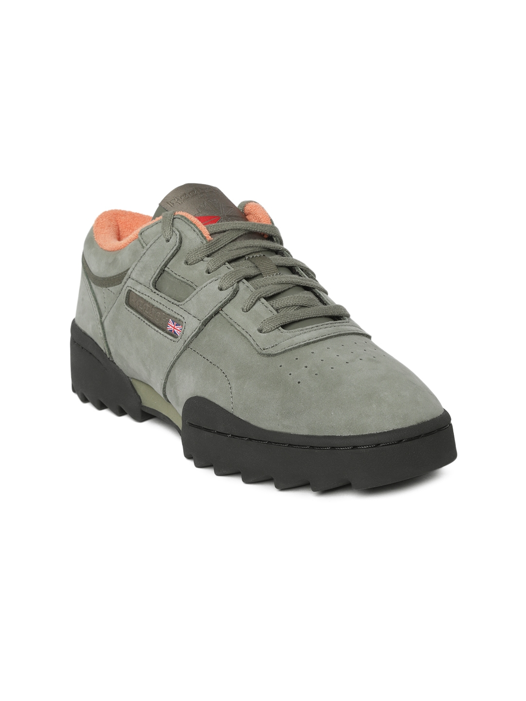 5fabccd739363 Reebok Classic Women Olive Green Workout Ripple OG Patent Leather Sneakers