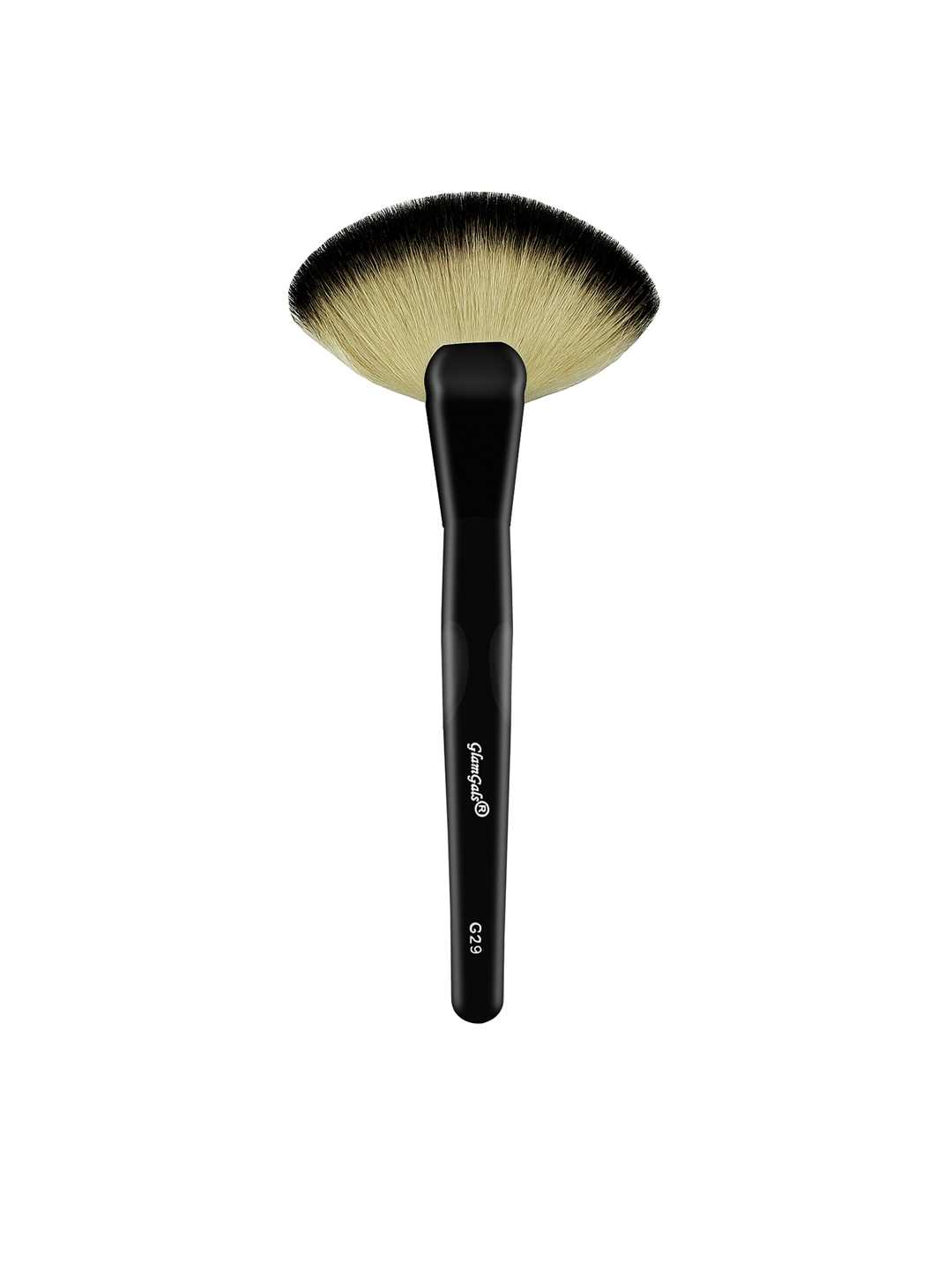 Buy GlamGals Women Black Fan Makeup Brush - Makeup Brushes for Women ... 70d2c69968