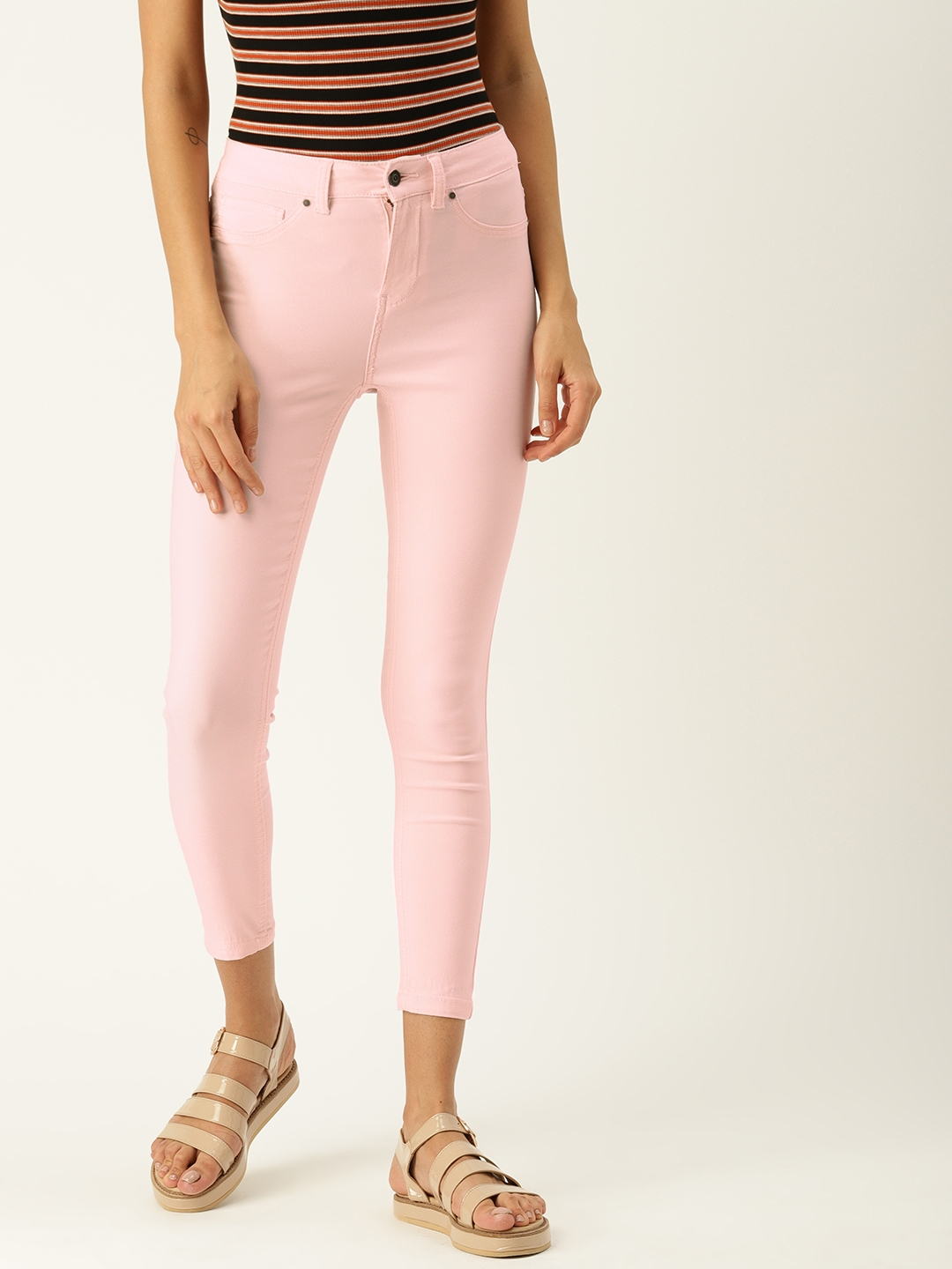 Allen Solly Woman Pink Solid Jeggings