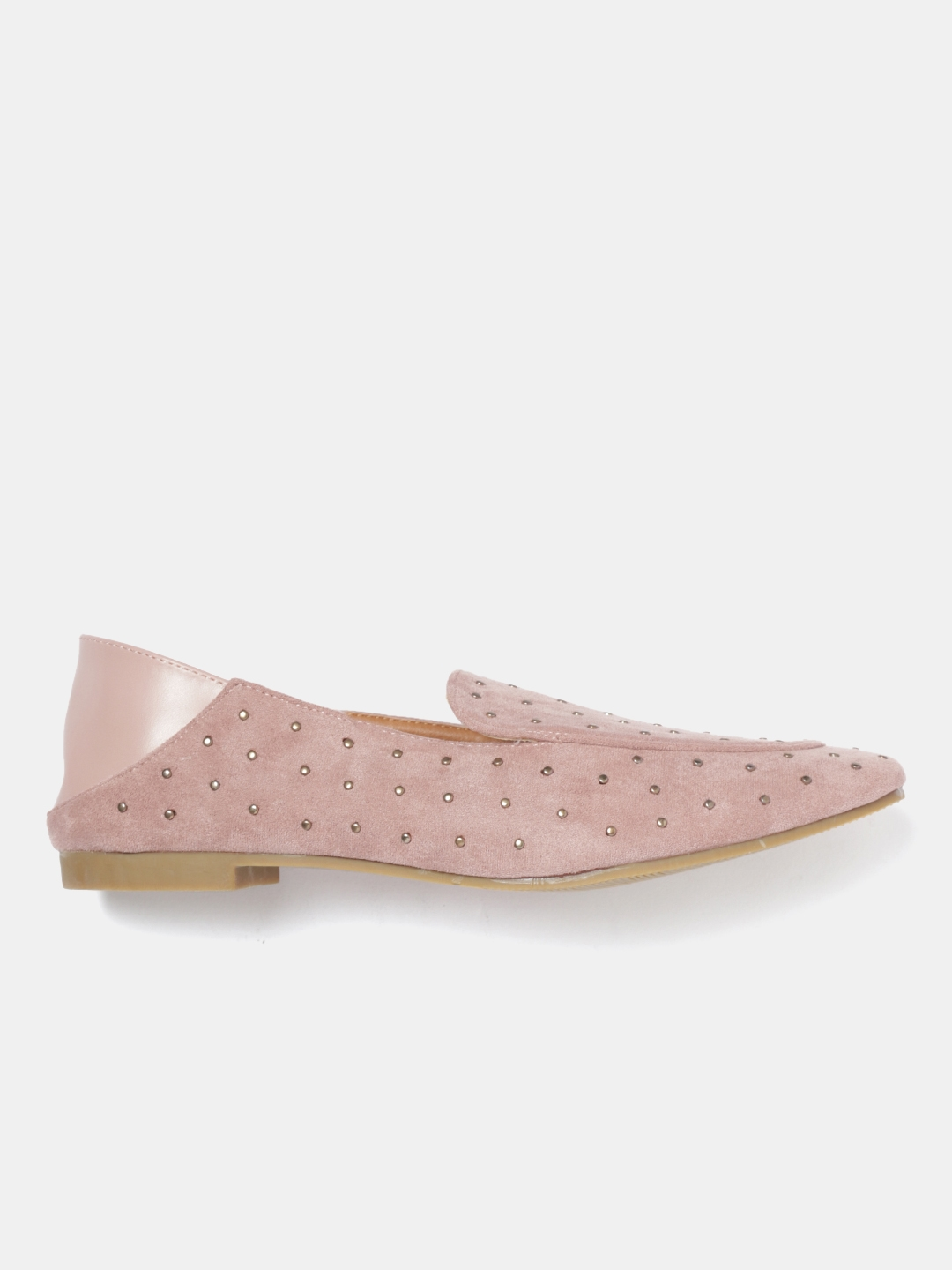 b7d1c10d73d Buy Mast   Harbour Women Dusty Pink Embellished Slip Ons - Casual ...