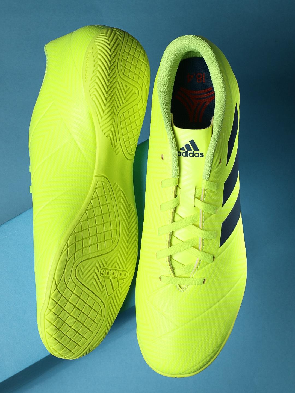43d36e349 ADIDAS Men Fluorescent Green NEMEZIZ 18.4 Indoor Football Shoes. This  product ...