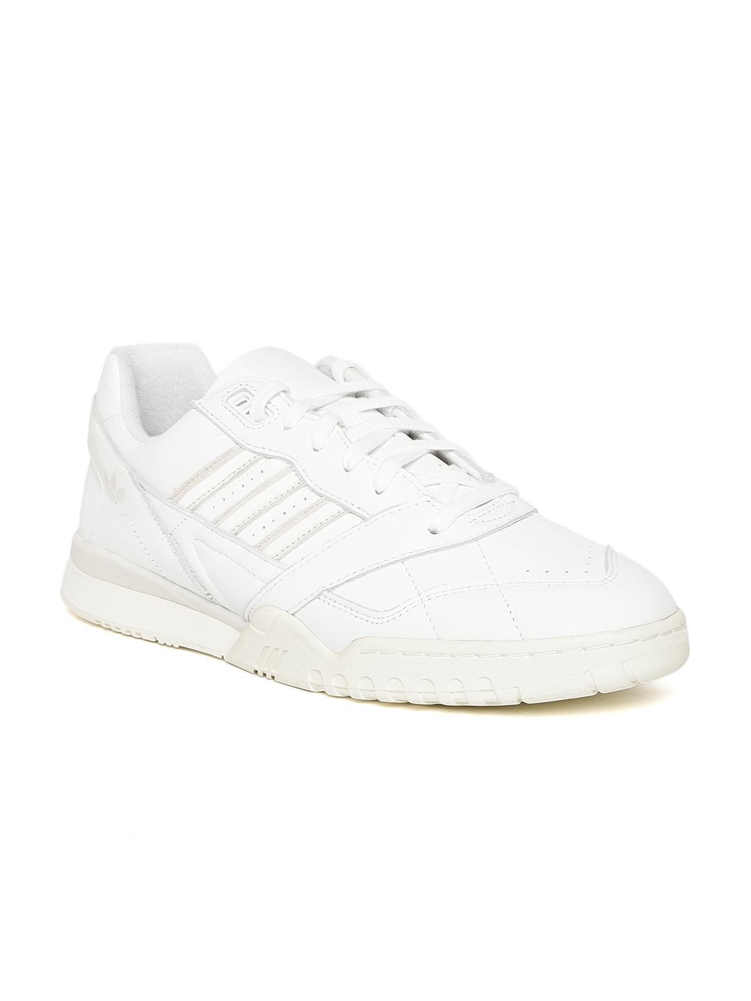 official photos 9858f 51bdd ADIDAS Originals Men White A.R. TRAINER Leather Sneakers