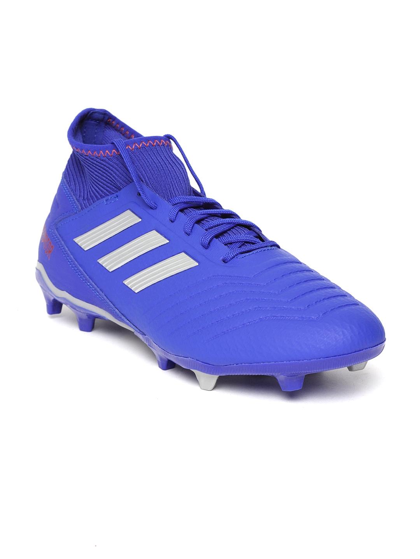 5ffc35237fe5e5 Buy ADIDAS Men Blue Predator 19.3 Firm Ground Football Shoes ...