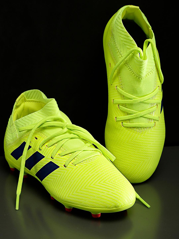 2b1e1adf5a3d Buy ADIDAS Boys Fluorescent Green NEMEZIZ 18.3 Firm Ground Football ...