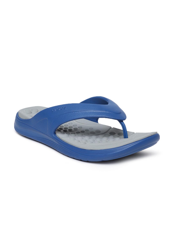 237dee642551 Buy Crocs Unisex Blue Reviva Solid Thong Flip Flops - Flip Flops for ...