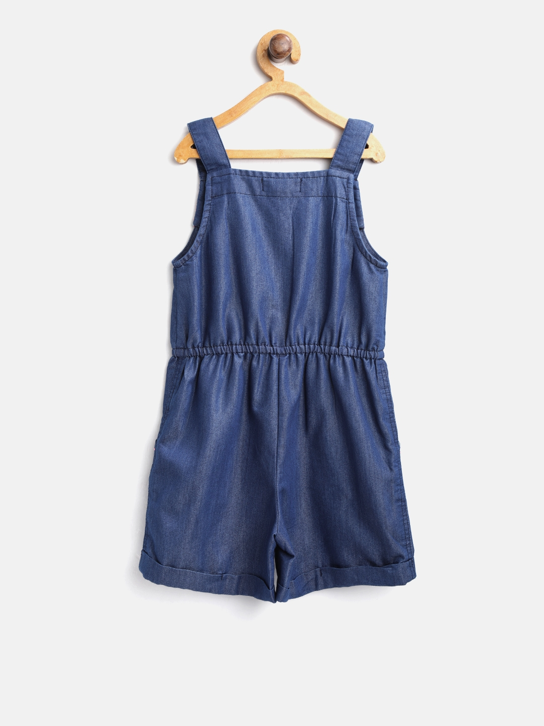 2803cce8732 Buy Nauti Nati Navy Blue Denim Playsuit - Jumpsuit for Girls 8555141 ...