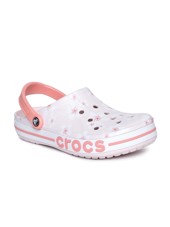 Buy Crocs Unisex Pink \u0026 White Bayaband