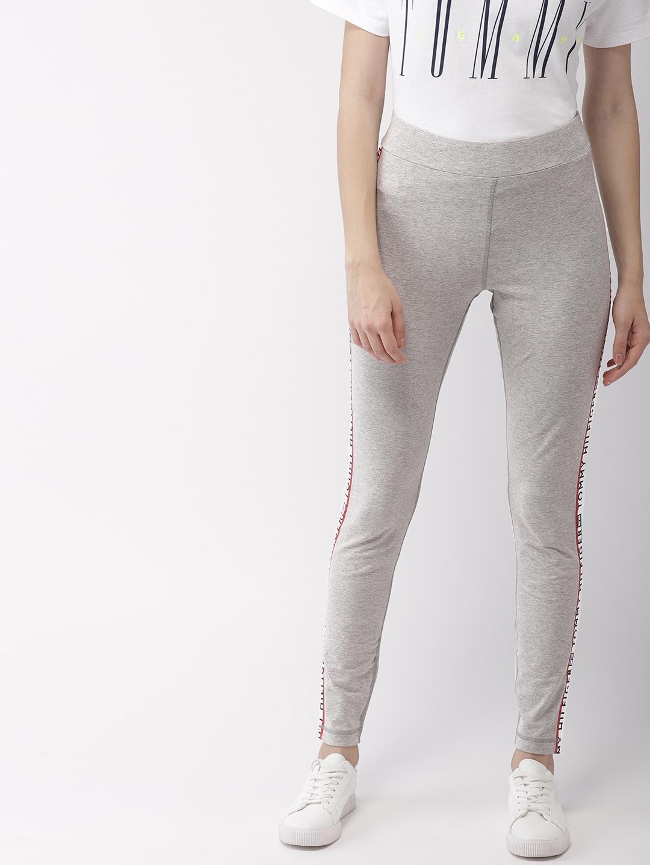 fc472c575d5f0 Buy Tommy Hilfiger Women Grey Melange Solid Leggings - Leggings for ...