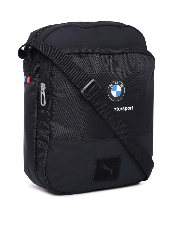 8019f2d29f64 Buy Puma Unisex Black Solid BMW Motorsport Messenger Bag - Messenger ...