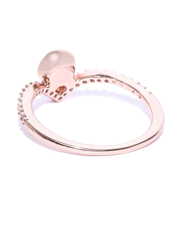 b90bfb573 Buy Accessorize Women Rose Gold Plated CZ & Swarovski Stone Studded ...