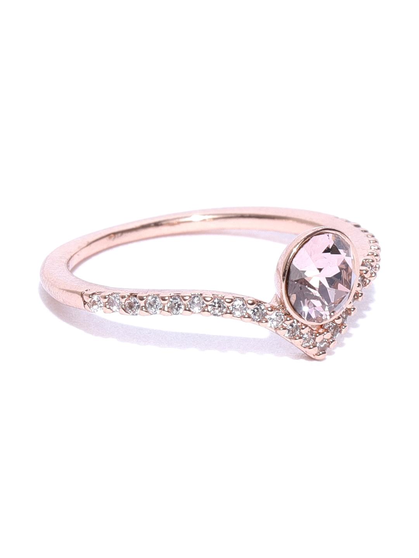 1b520c36b Accessorize Women Rose Gold-Plated CZ & Swarovski Stone-Studded Finger Ring