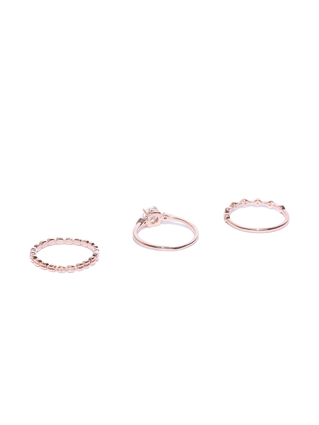 9fea3c78a Buy Accessorize Set Of 3 Rose Gold Plated Finger Rings - Ring for ...