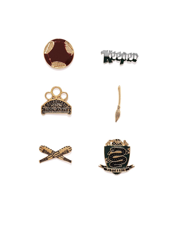 62b595d14 Buy EFG Unisex Set Of 6 Harry Potter Slytherin House Pin Set ...