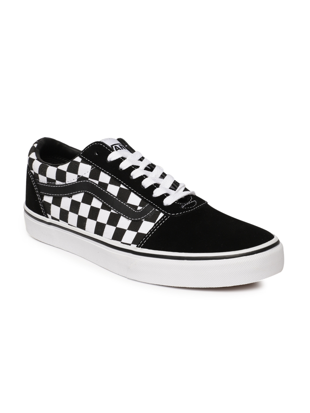 c340b6a4a Buy Vans Men Black & White Ward Checked Sneakers - Casual Shoes for ...
