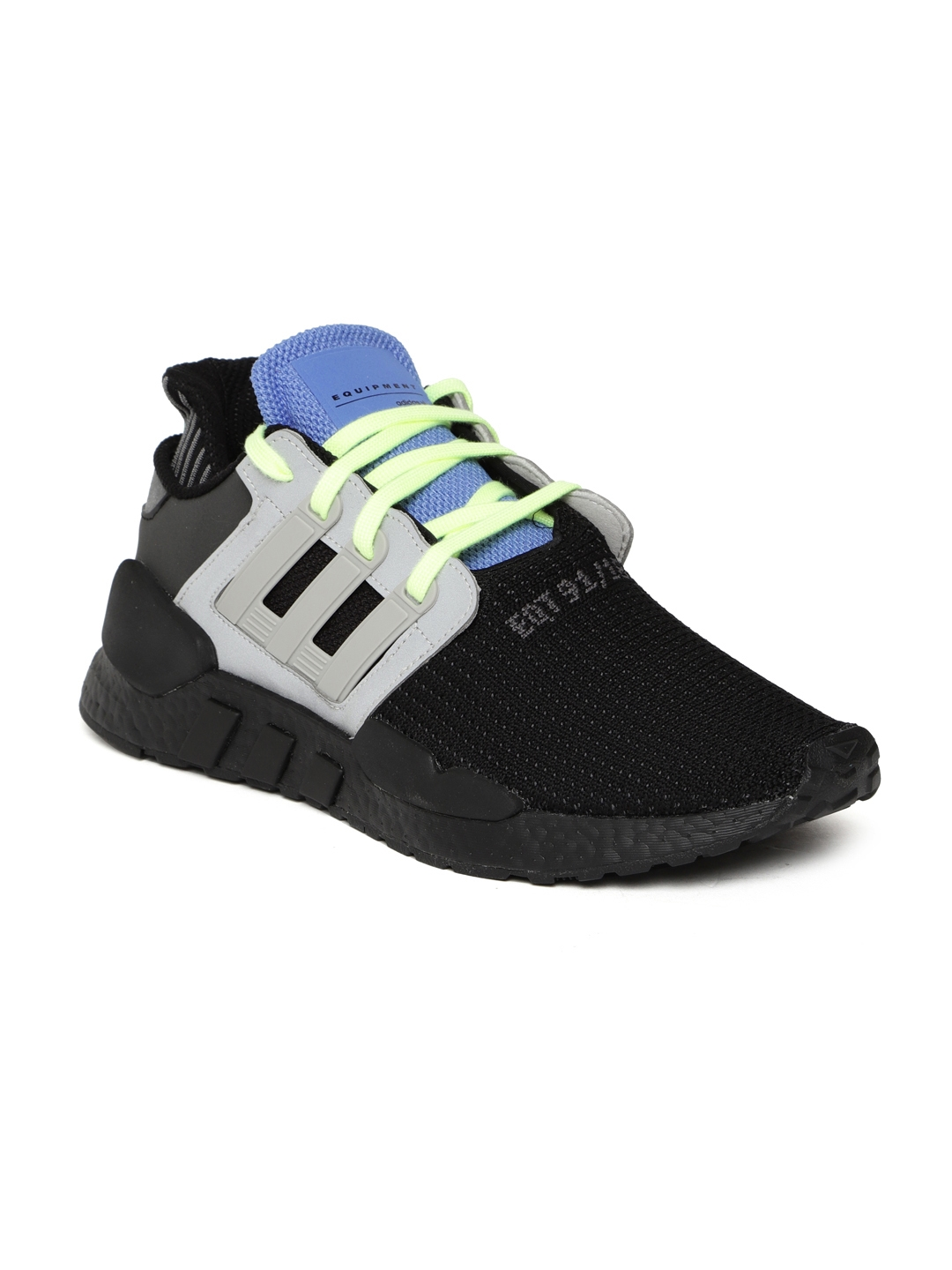 buy online 7460c c3376 ADIDAS Originals Men Black   Grey EQT SUPPORT 91 18 Sneakers