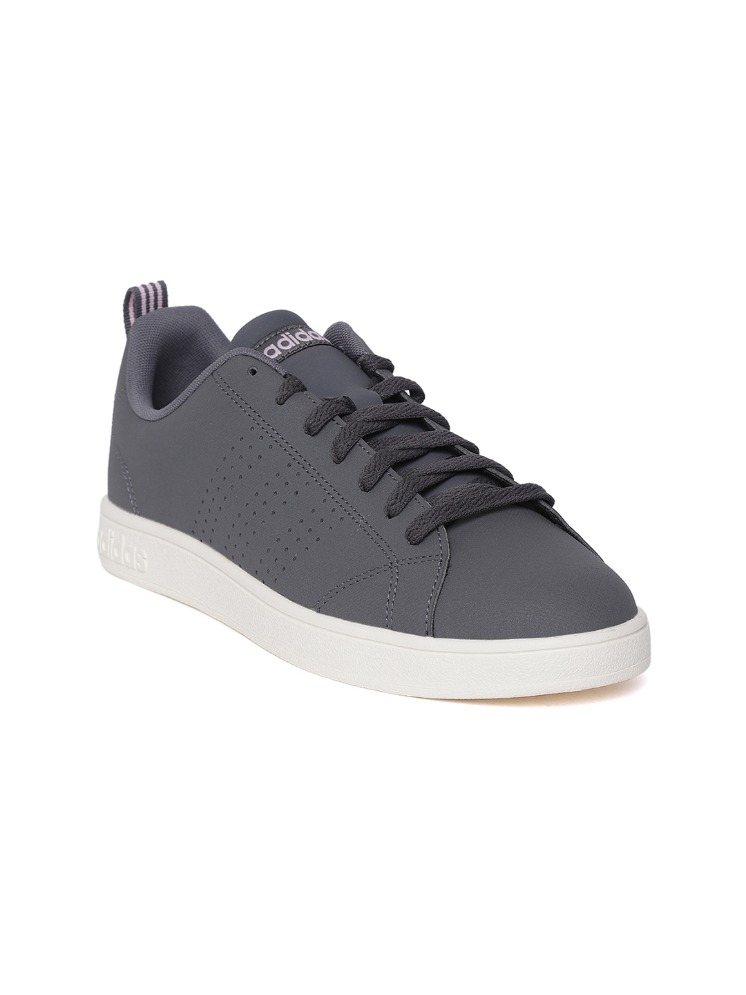 ADIDAS Women Grey Sport Inspired VS Advantage Clean Tennis Shoes
