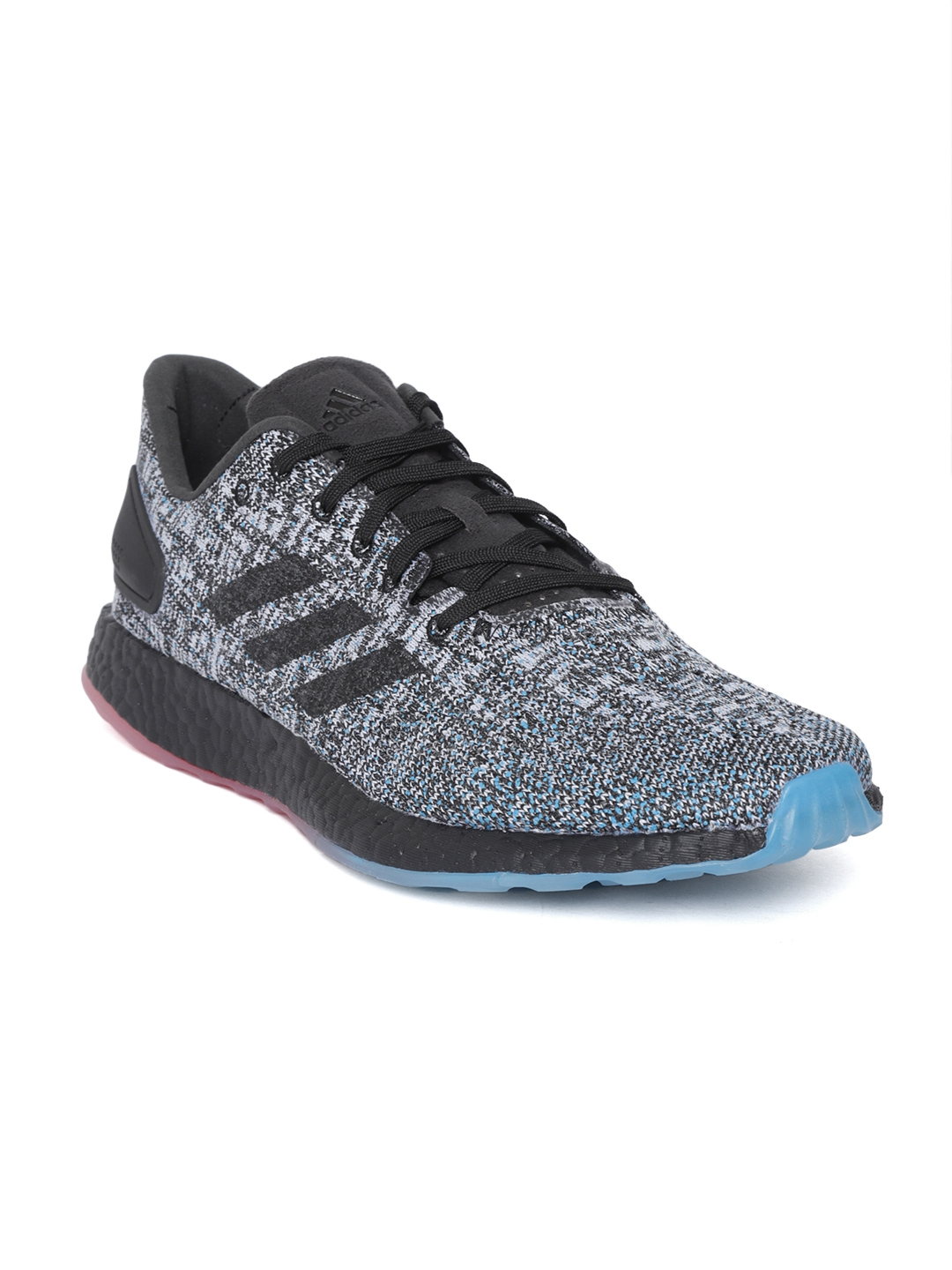 67a9d9dcbfa2f Buy ADIDAS Men Black   Grey Pureboost DPR LTD Running Shoes - Sports ...