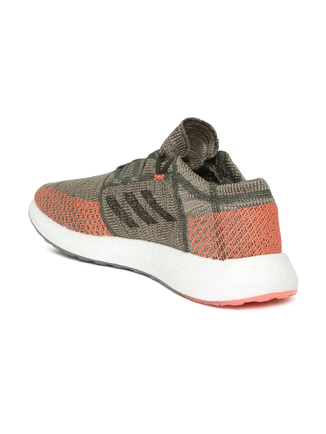 9ea2c32cc Buy ADIDAS Men Olive Brown Pureboost Go Running Shoes - Sports Shoes ...