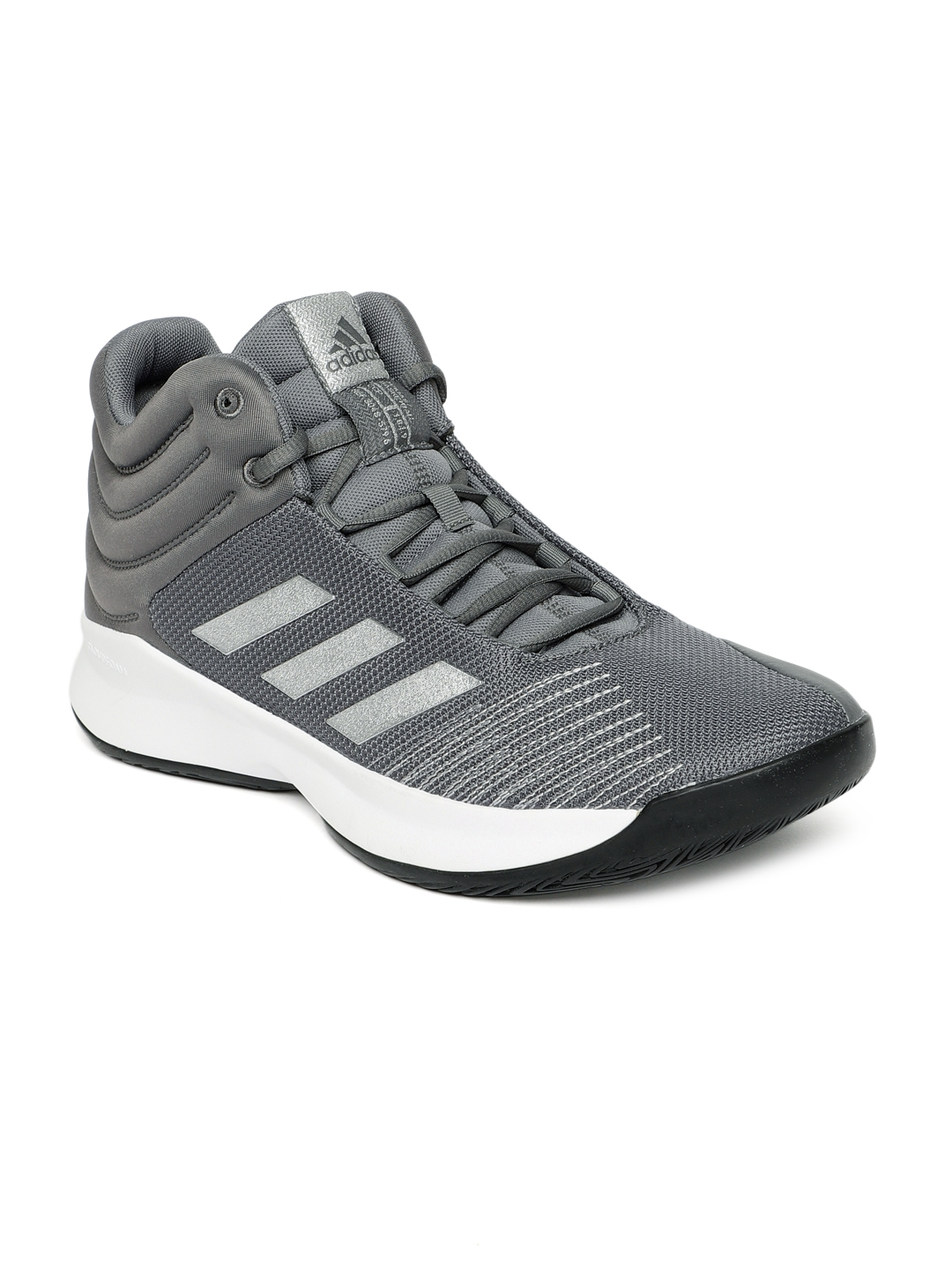 4fd955896bd7 Buy ADIDAS Men Grey Solid Pro Spark Basketball Shoes - Sports Shoes ...