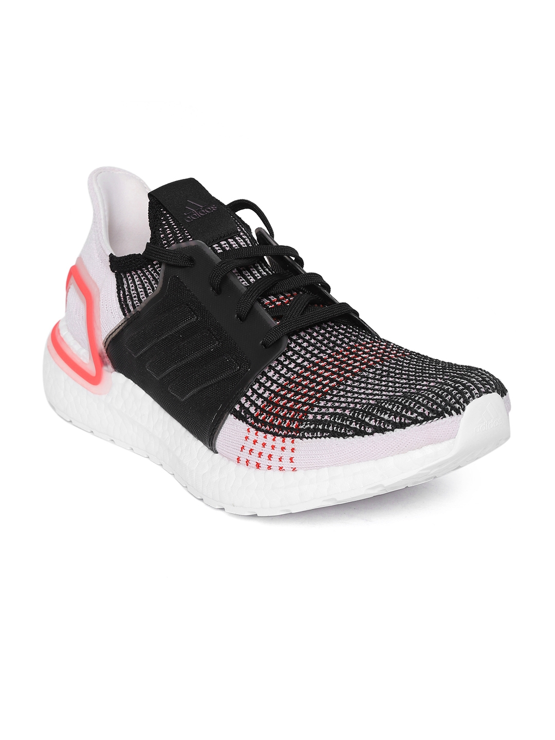 147fc83ee4dd3 Buy ADIDAS Men Black   White Ultraboost 19 Running Shoes - Sports ...