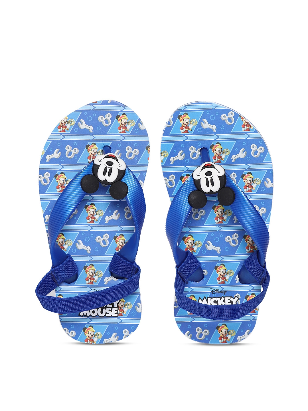 a3d28eb9cc59 Buy Disney Boys Blue Mickey Mouse Print Thong Flip Flops - Flip ...