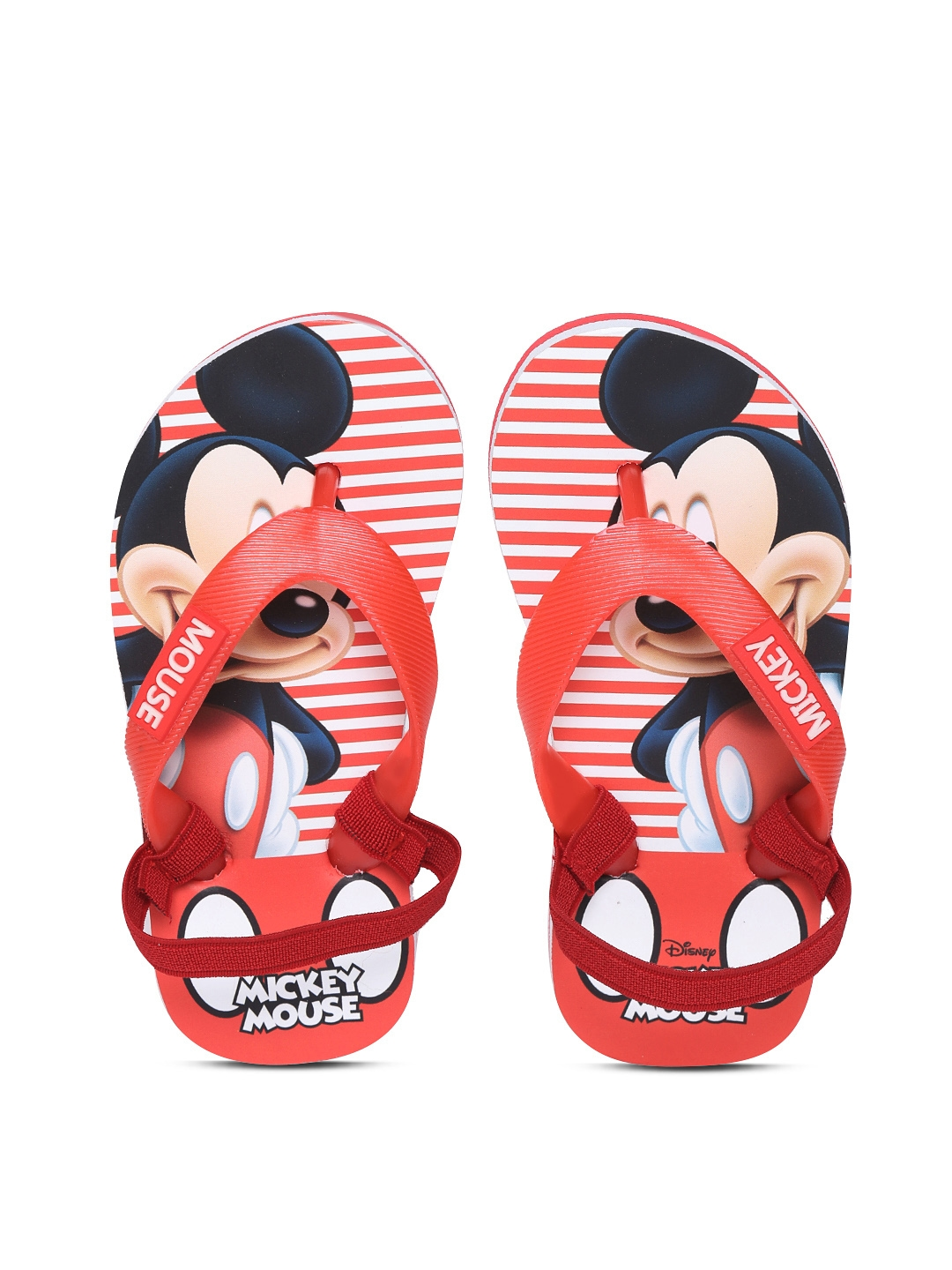 f4e2ef911025 Buy Disney Boys Red Mickey Mouse Print Thong Flip Flops - Flip Flops ...