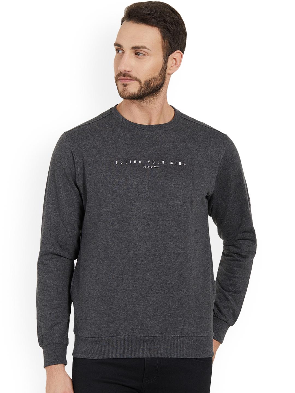 Status Quo Men Grey Printed Sweatshirt