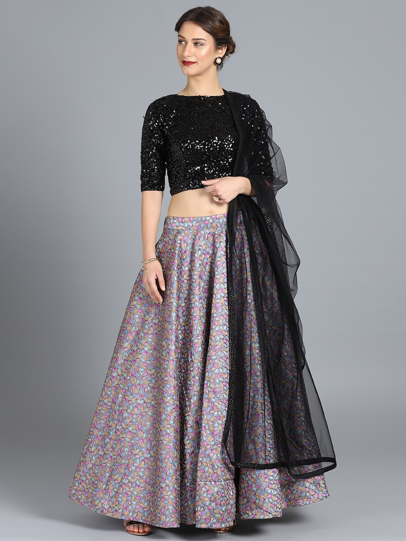 ddf58880c9 Bollywood Vogue Multi-Coloured Embroidered Made to Measure Lehenga Choli  with Dupatta