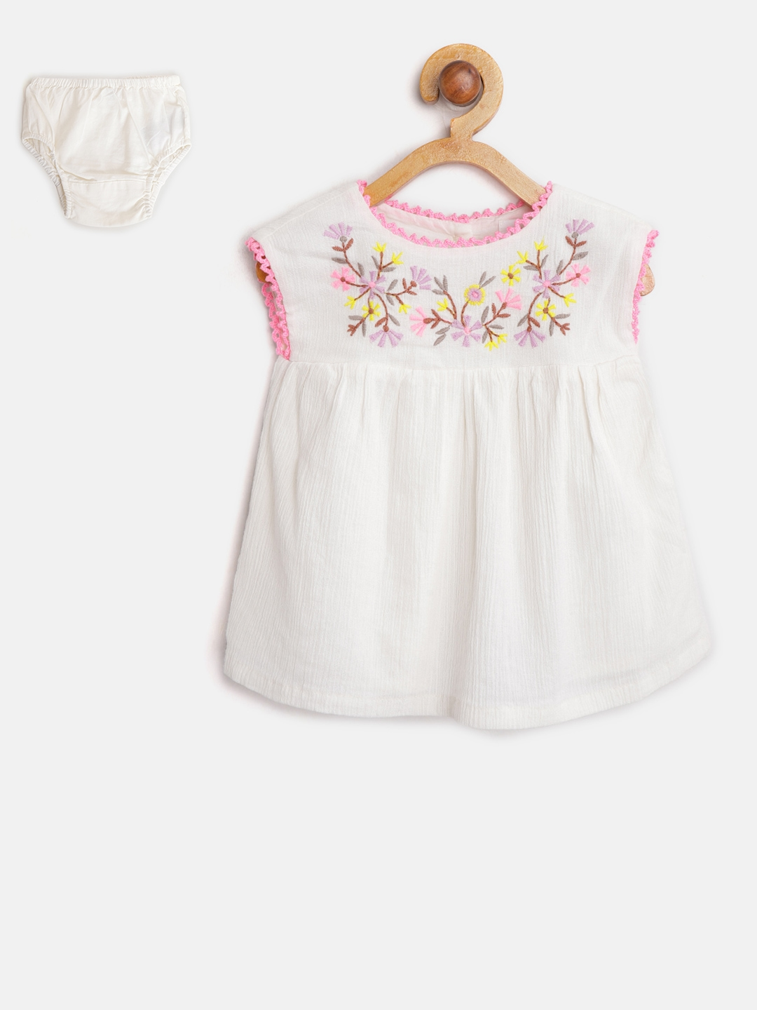 14e99f221c7a Buy GAP Baby Girl Floral Embroidered Empire Waist Dress - Dresses ...