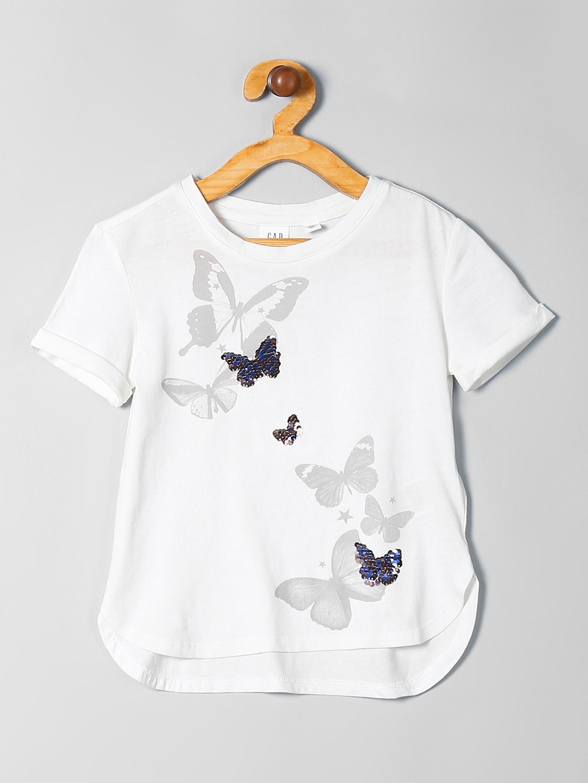 ec3cdc47b Buy GAP Girls Flippy Sequin Graphic T Shirt - Tshirts for Girls ...