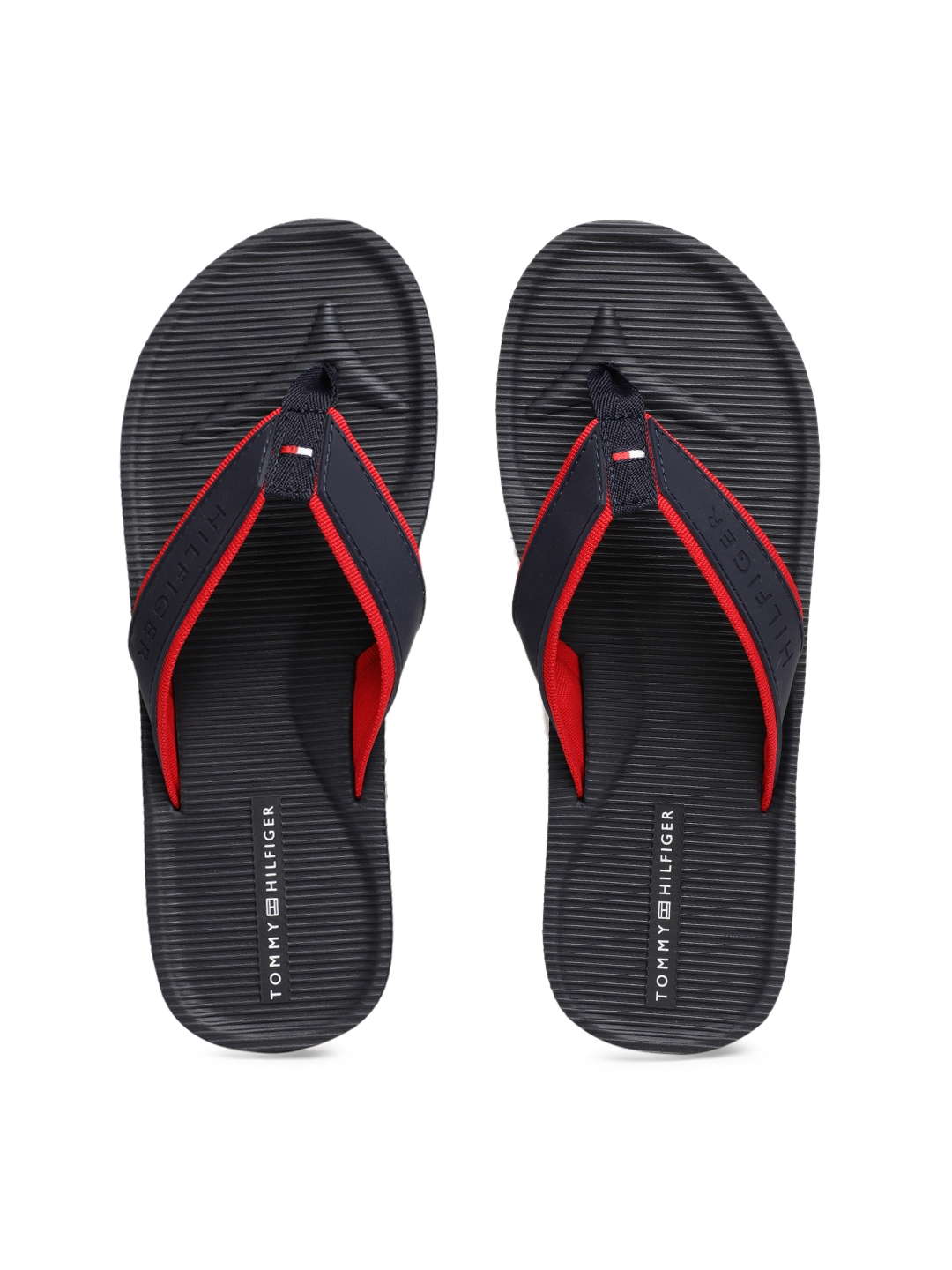15574c083929 Buy Tommy Hilfiger Men Navy Blue Solid Thong Flip Flops - Flip Flops ...