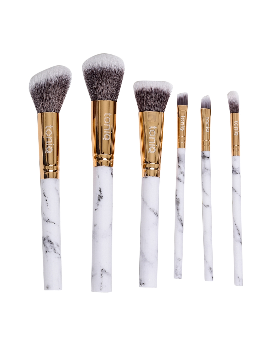 Toniq Beauty Marvelous Marble Collection Set of 6 Makeup Brushes