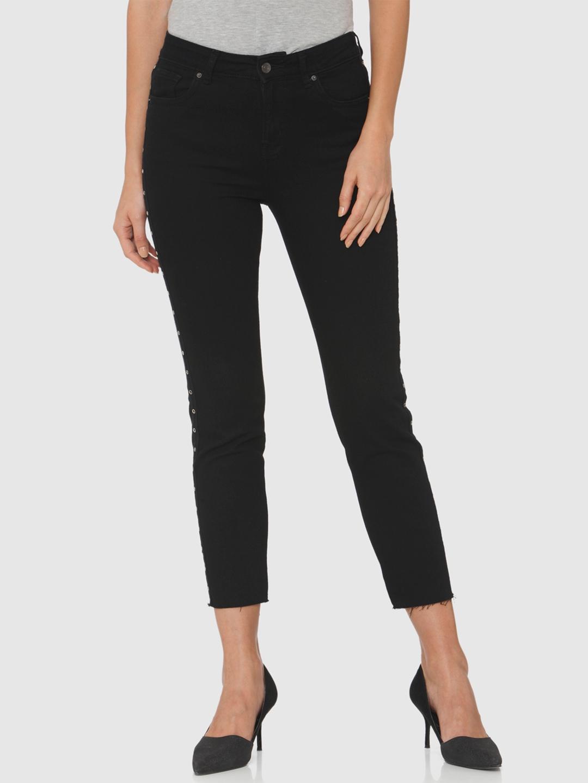 2d3ffdeb3b26 Buy Vero Moda Women Black Slim Fit High Rise Clean Look Stretchable ...