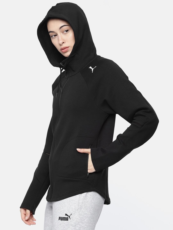 34b7365b06 Puma Women Black Solid Evostripe Sporty Jacket
