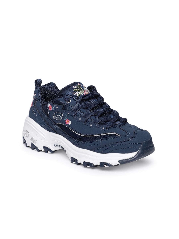 85e7200d797 Skechers Women Blue D'LITES-BRIGHT BLOSSOMS Sneakers